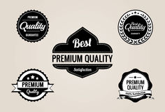 La qualità premio & la garanzia contrassegna la raccolta - retro disegno fotografie stock