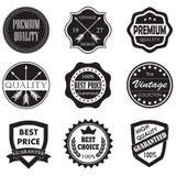 La qualité de la meilleure qualité, le meilleur prix badges et des labels Photo stock