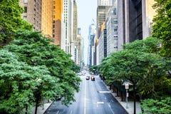 la quarante-deuxième rue, Manhattan a regardé de Tudor City photo stock