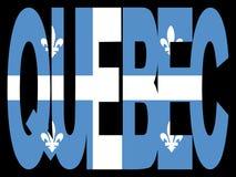 La Quebec con la bandierina royalty illustrazione gratis