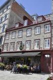 La Quebec, il 28 giugno: Camera storica dal posto Royale di vecchio Québec nel Canada fotografia stock