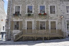 La Quebec, il 28 giugno: Camera storica dal posto Royale di vecchio Québec nel Canada immagini stock libere da diritti