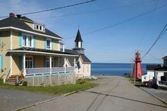La Quebec, il piccolo villaggio di La Martre Fotografia Stock