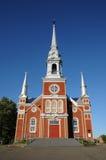 La Quebec, la chiesa storica del san Fabien Fotografia Stock