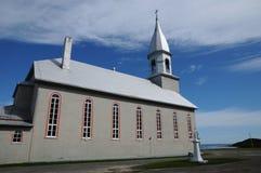 La Quebec, la chiesa storica di Sainte Madeleine de la Riviere Immagine Stock Libera da Diritti