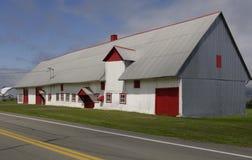 La Quebec, un granaio nell'isola di Orleans Fotografia Stock