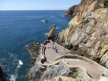 La Quebrada i Guerrero Acapulco Mexico royaltyfri foto