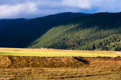 La Quillane green mountains in French Pyrenees Royalty Free Stock Photography