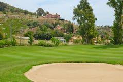 地堡高尔夫球La Quinta 库存照片