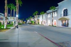 La Quinta California. Downtown La Quinta California at Night. Summer in La Quinta Royalty Free Stock Images