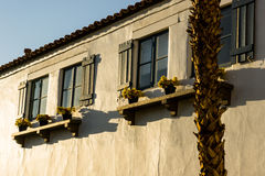 La Quinta, California. Sunrise on adobe wall in La Quinta, California Stock Photography