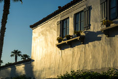 La Quinta, California. Sunrise on adobe wall in La Quinta, California Stock Images