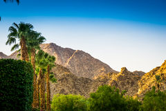 La Quinta, California. Sunrise on the hills in La Quinta, California Royalty Free Stock Image
