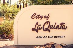 La Quinta City Sign Royalty-vrije Stock Foto