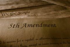 La quinta enmienda fotografía de archivo
