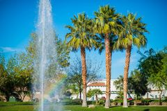 La Quinta Park Fountain. La Quinta City Park Fountain. California, USA Stock Photos