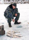 La quinta pesca del Baikal Fotografie Stock Libere da Diritti