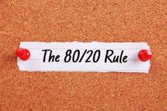 La règle 80 20 Photos stock