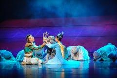 La réalisation de la lune de ballet de promesse-Hui au-dessus de Helan Images stock
