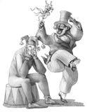 La réalité politique surmonte l'imagination comique illustration stock
