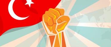 La rébellion de lutte de l'indépendance de combat et de protestation de la Turquie montrent la puissance symbolique avec l'illust Image libre de droits