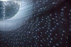 La réception allume la bille de disco Photos stock