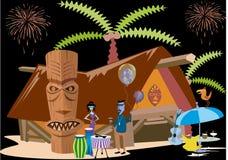 La réception d'île illustration de vecteur