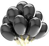 La réception monte en ballon le noir coloré. Images libres de droits