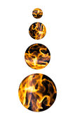 La réflexion de la flamme lumineuse du feu dans une sphère aiment un mystica illustration libre de droits