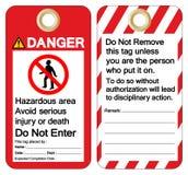 La région dangereuse de danger éviter la blessure sérieuse ou la mort n'écrivent pas le signe de symbole, l'illustration de vecte illustration libre de droits