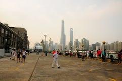 La région de docks fraîche de Changhaï Image stock