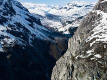 La région de glacier de Hardanger Photos libres de droits