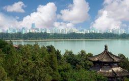 La région de Pékin de temple de paix Photographie stock