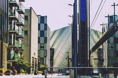 La région de quartiers des docks de Dublin comportant le théâtre de Bord Gais Images libres de droits