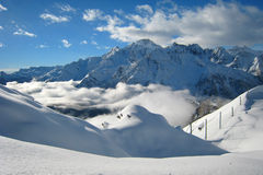 La région de ski Photographie stock