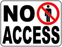 La région restreinte interdite par cercle de signe de vecteur pour le membre seulement ou aucun entrent dans la zone de précautio Photos stock
