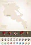 La république d'Arménie Photographie stock