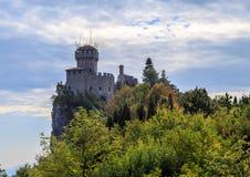 La république de San Marino et l'Italie de Monte Titano Image stock