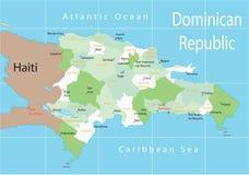 la république dominicaine Images libres de droits