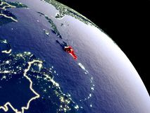La République Dominicaine de l'espace illustration stock