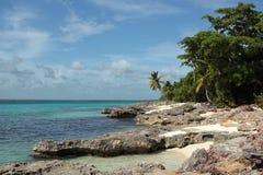 La république dominicaine de petite île en pierre de Saona Images libres de droits