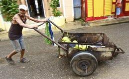 La République Dominicaine de vendeur de noix de coco Photographie stock libre de droits