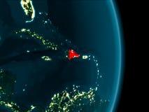 La République Dominicaine la nuit Image libre de droits