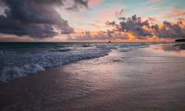 La république dominicaine Paysage côtier coloré photos libres de droits