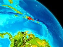 La République Dominicaine sur terre Photographie stock