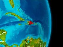 La République Dominicaine sur terre Images libres de droits
