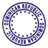 La RÉPUBLIQUE DOMINICAINE texturisée rayée autour du joint de timbre illustration libre de droits