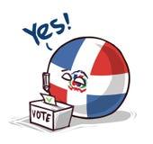 La République Dominicaine votant oui illustration de vecteur