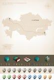 La République du Kazakhstan illustration stock
