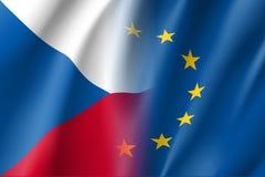 La République Tchèque de symbole est membre d'UE illustration de vecteur